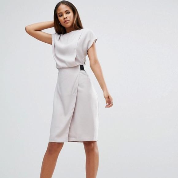 b9bdc2201a6 ASOS Dresses   Skirts - Asos Midi Business Casual Dress in Grey
